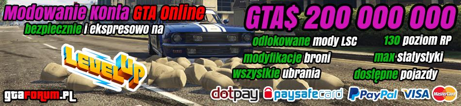 Modowanie kont GTA 5 Online na Level Up