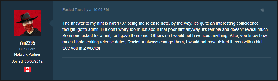 GTA DLC is not 1707 being the release date