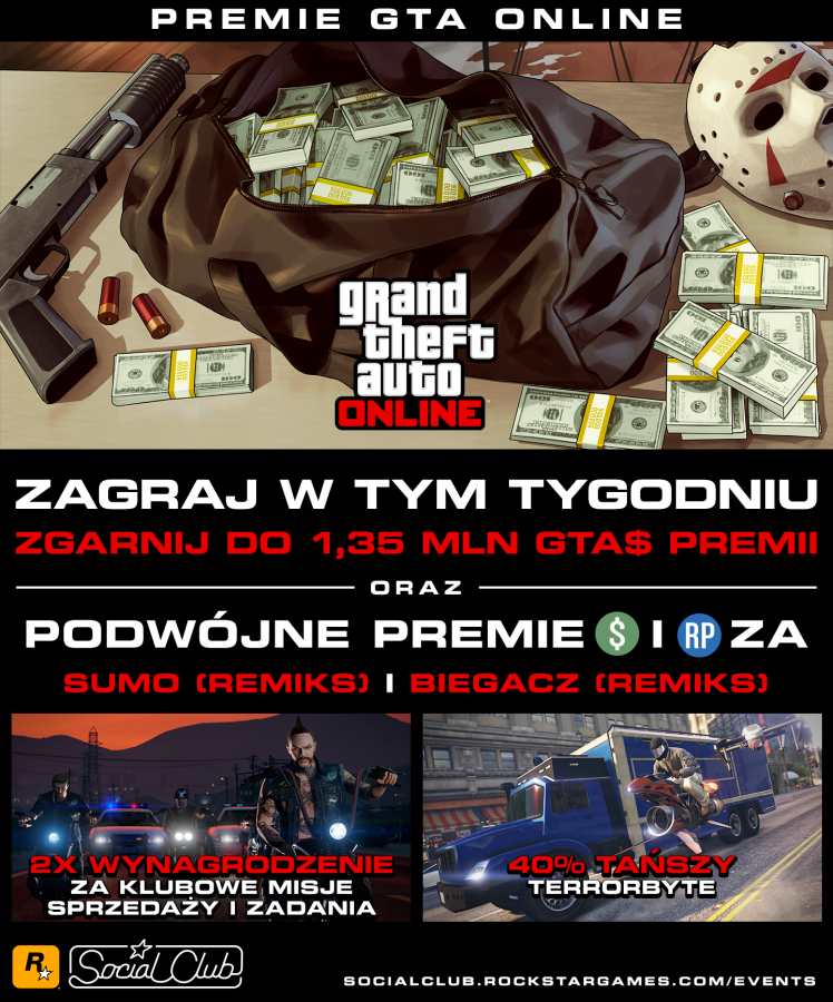 Premia GTA$ 1 350 000 do GTA Online