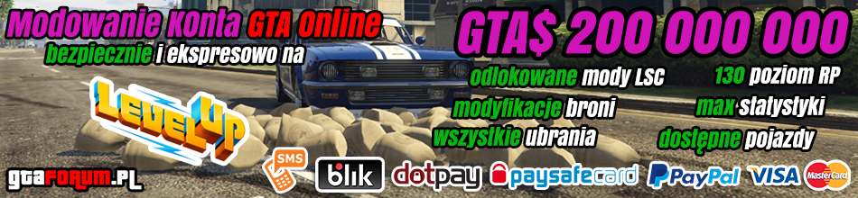 Modowanie konta GTA Online